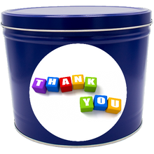 "Load image into Gallery viewer, ""Thank You"" Two Gallon Popcorn Tin"