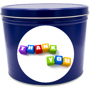 """Thank You"" Two Gallon Popcorn Tin"