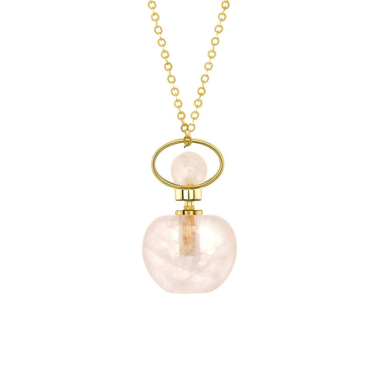 Crystal Essential Oil Bottle Necklaces