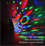 LED Car USB Atmosphere Light DJ RGB Mini Colorful Music Sound Lamp for USB