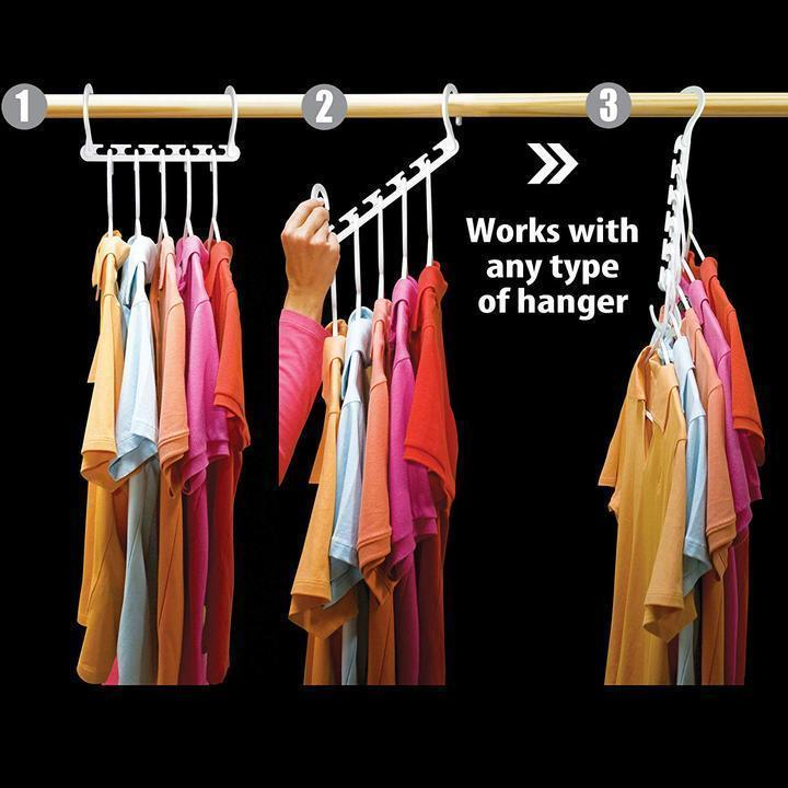 (Today BIG SALE) Magic Hangers Closet Space Saving ( Plastic and Metal )