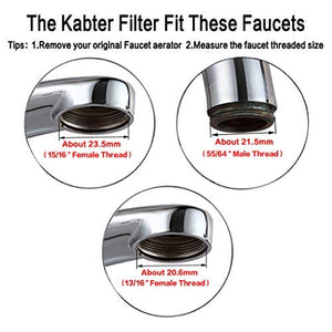 Faucet Mount Water Filter System Tap Water Filtration Purifier