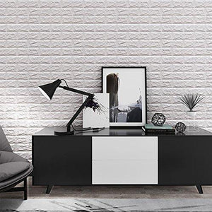 3D Self-Adhesive Wall Panels Faux Foam Bricks Wallpaper for TV Walls/Sofa Background Wall Decor