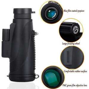 【FREE SHIPPING】New Arrival! Waterproof 40x60 High Definition Monocular Telescope-BAK4 Prism for Watching Hunting Camping Travelling Outdoor With Phone Tripod