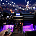 (BUY 4 FREE SHIPPING )Car usb atmosphere decorative lamp foot light colorful voice control star rhythm lights