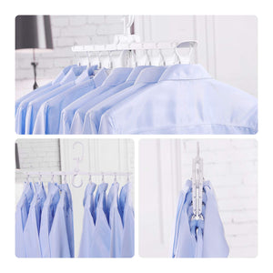 Alena Culian Magic Standard Hangers Plastic Space Saving Multi-Function Non-Slip 360 Degree Swivel Clothes Hangers (White)