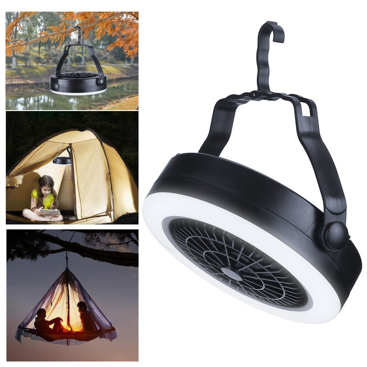 【BUY TWO FREE SHIPPING】New 3-in-1 camping lamp camping fan lamp 18LED