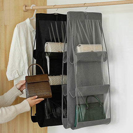 【BUY MORE SAVE MORE】Foldable Backpack Storage Bags  Supplies 6 Pockets Closet Rack