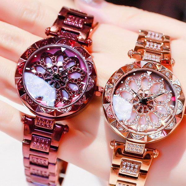 HOT SALE!!!Women Waterproof Flower Quartz Watch