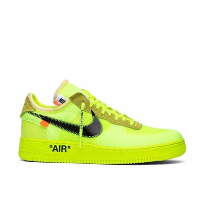 Nike Air Force 1 OFF-WHITE OW Men Skateboarding Shoes Fluorescence Green Comfortable Sneakers#AO4606-700