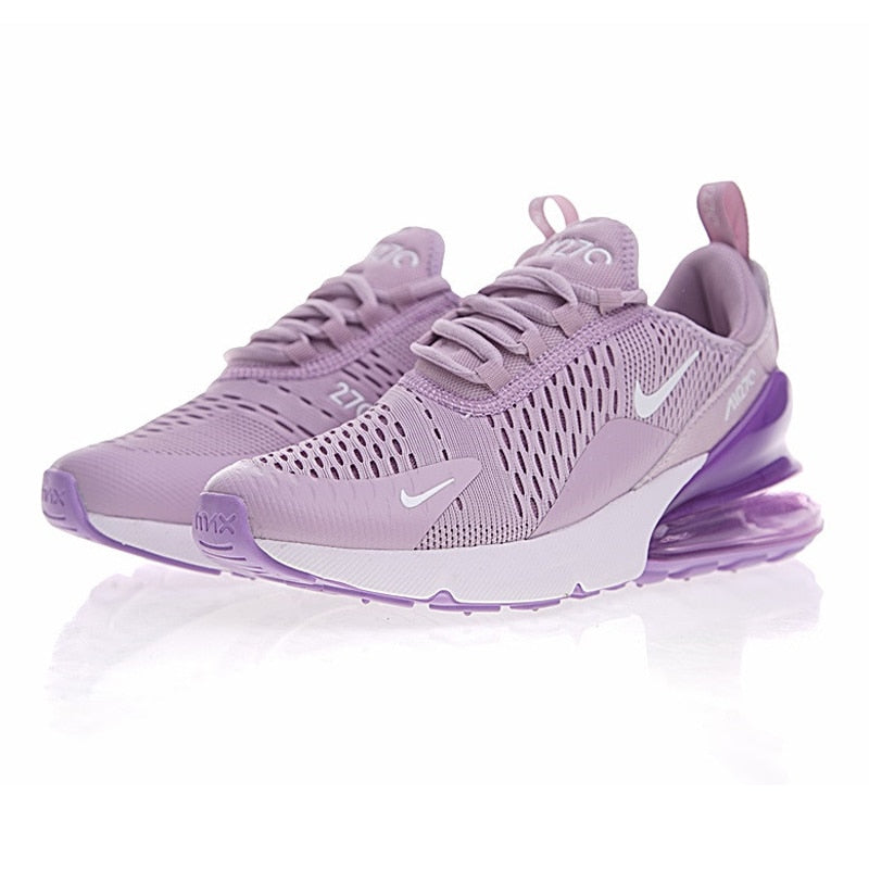 Womens Casual Sneakers Nike Air Max 270 Flyknit Light Purple White AH8050 510 ah8050 510