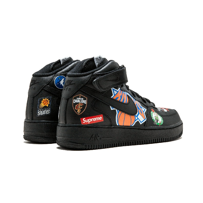 on sale 85aed 08dd4 Supreme x NBA x Air Force 1 Mid 07 'Black'