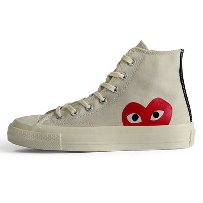 Comme des Garçons x Chuck Taylor All Star High 'Play' and 'Milk'