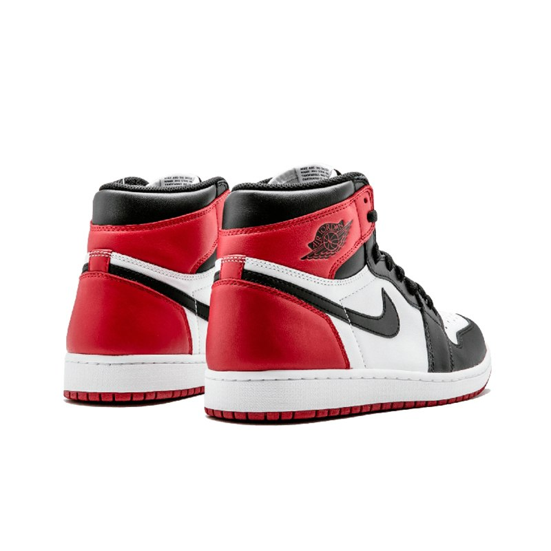 brand new 6a87b 656ab Nike Air Jordan 1 Black Toe Original Mens Basketball Shoes Breathable  Stability Sneakers For Men Shoes
