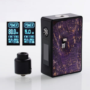 Asmodus Spruzza 80w sqounk Kits stabwood Purple