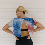 CROP TOP TIE DYE EARTH