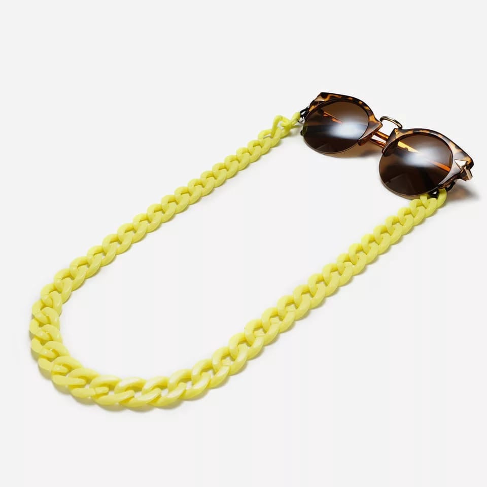 Acrylic chain Neon Yellow