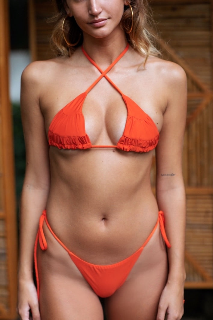 Tulum Top Sunset Orange