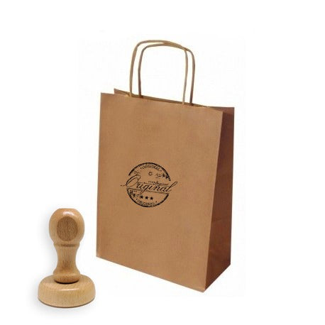 Kit 100 Bolsas Kraft Con ASA (Café) Delivery y Sello