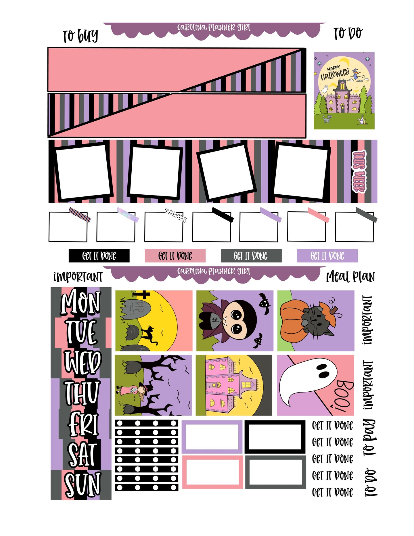 Halloween Hobonichi Cousin Weekly-PRINTABLE