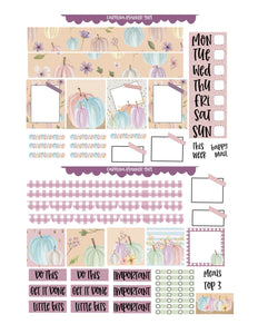 Pastel Pumpkins Weekly Kit-PRINTABLE
