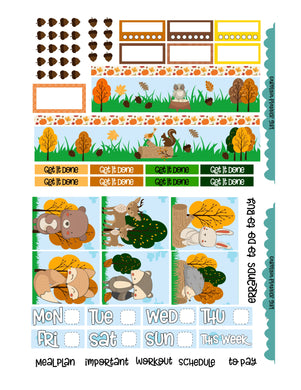 Autumn Critters EC Weekly-PRINTABLE