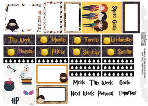 Harry Potter Erin Condren Weekly, Printable Kit