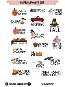 Micro Fall Bucket List