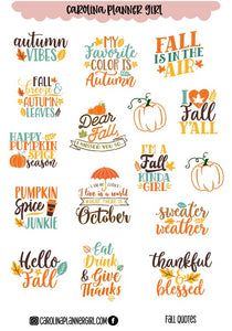 Fall Quotes Deco Sheet-PRINTABLE