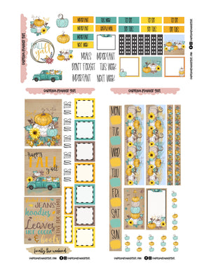 Happy Fall Hobo Weeks Deluxe Weekly-PRINTABLE