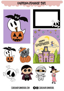 Halloween Doodles Add On Sheet-PRINTABLE
