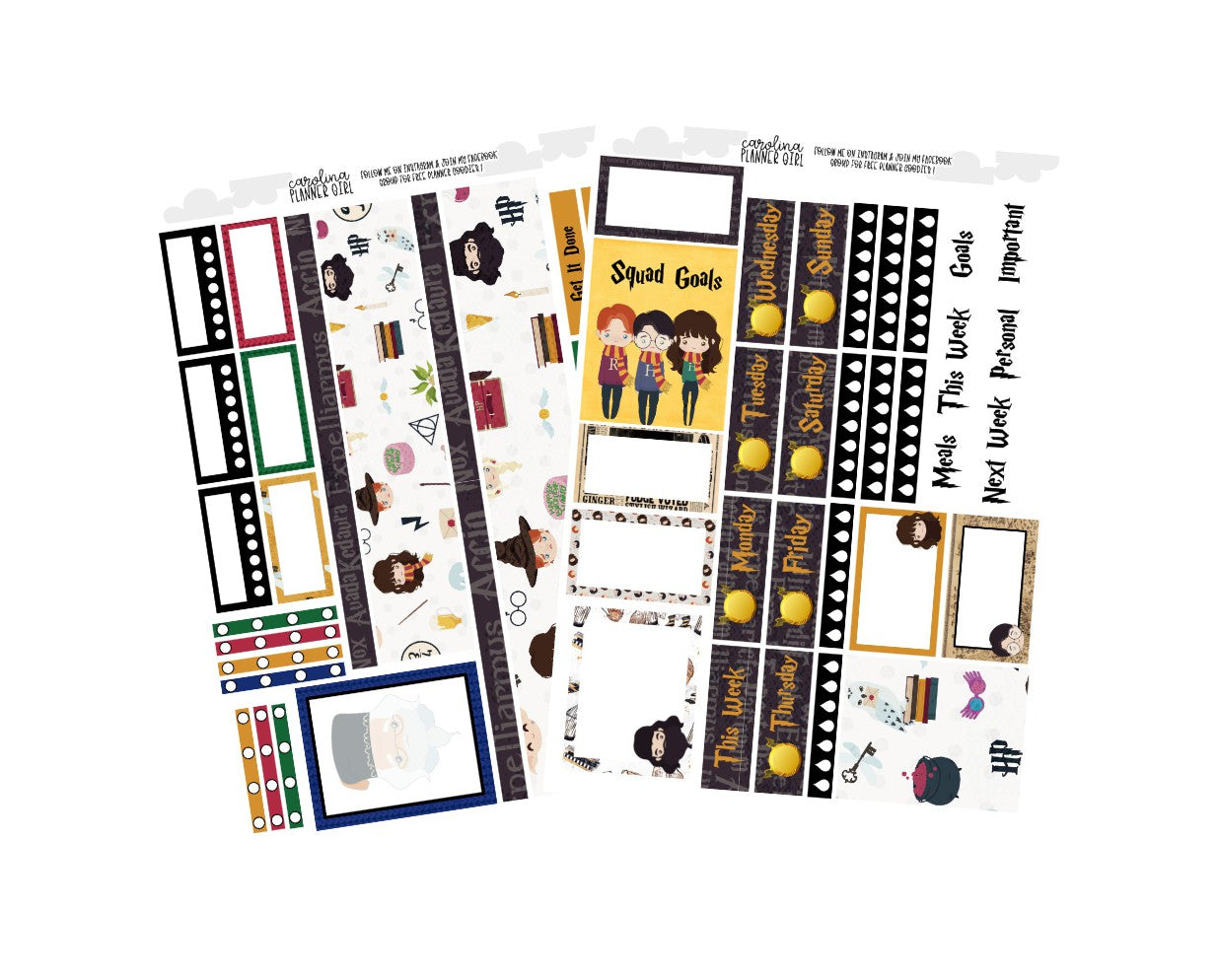 Harry Potter Erin Condren Weekly, Physical Kit