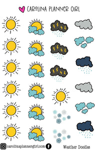 Weather Icon Doodles