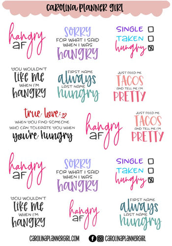 Sassy and Hangry-PRINTABLE