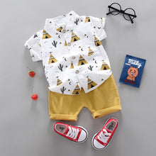 Load image into Gallery viewer, Boys Short sleeve shirt and Pants
