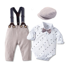 Load image into Gallery viewer, Baby Boy With Bow Hat Gentleman Summer Suit