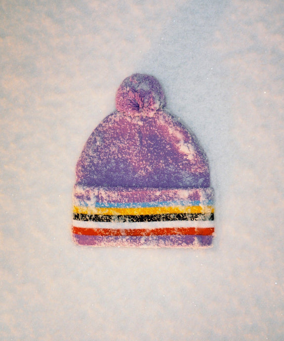BOBBLE BEANIE - PURPLE