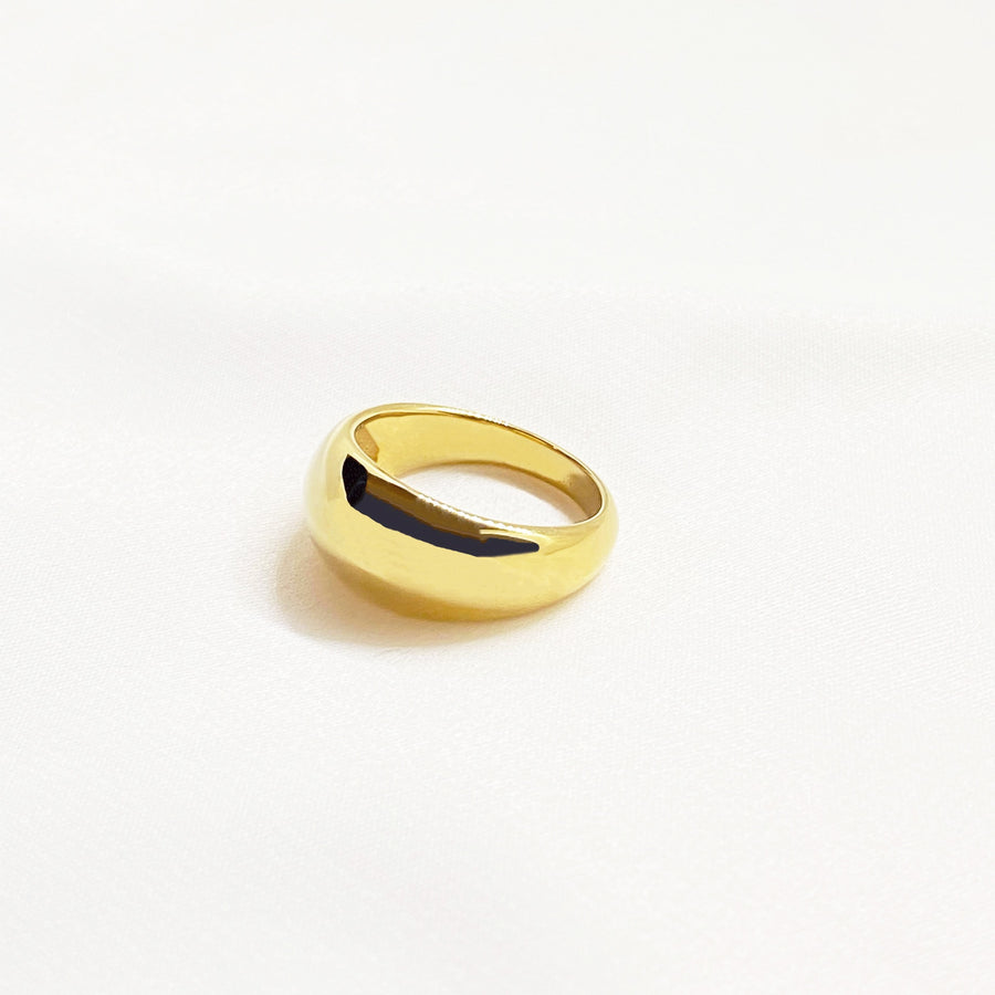 thick dome ring gold