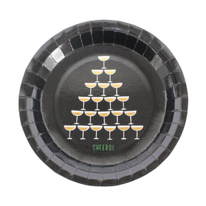 Champagne Tower Party Plates