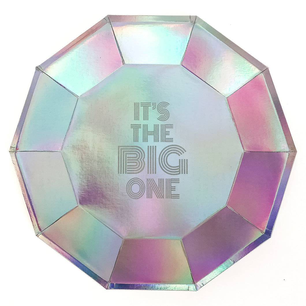 It's The Big One Iridescent Party Plates