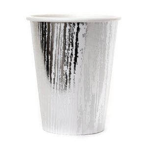 Silver Fake Wood Paper Cups