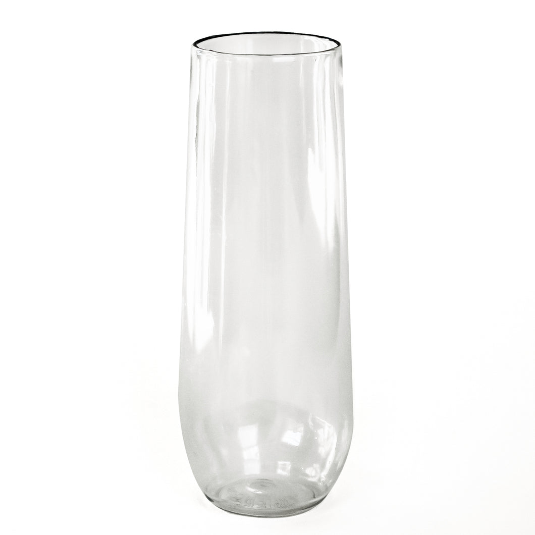 Clear Disposable Stemless Champagne Flute