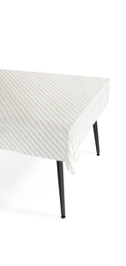 Gold Stripe Paper Tablecloth