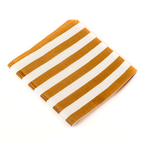 Gold Stripe Napkins