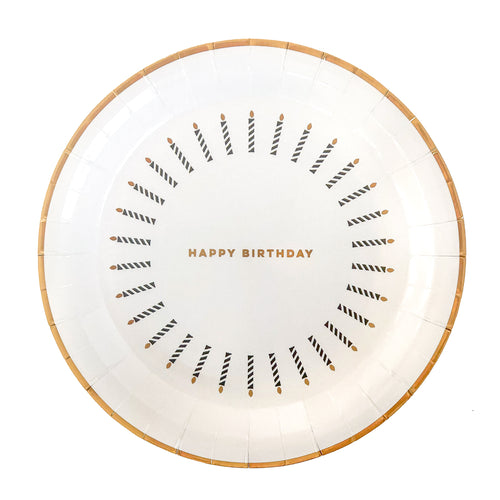 Happy Birthday Candles Party Plates