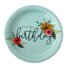 Load image into Gallery viewer, It's My Birthday Ice Blue Party Plates