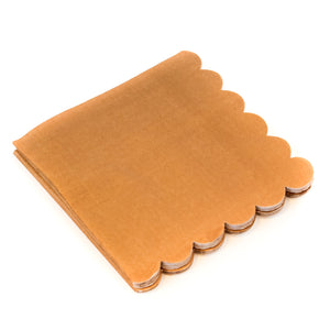 Scalloped Kraft Napkins