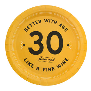 Mature Club 30th Birthday Party Plates