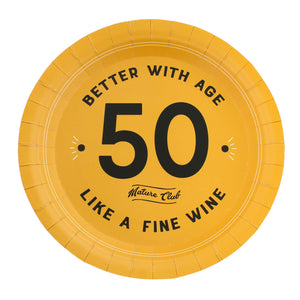 Mature Club 50th Birthday Party Plates