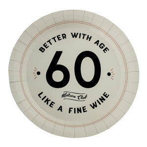 Mature Club 60th Birthday Party Plates